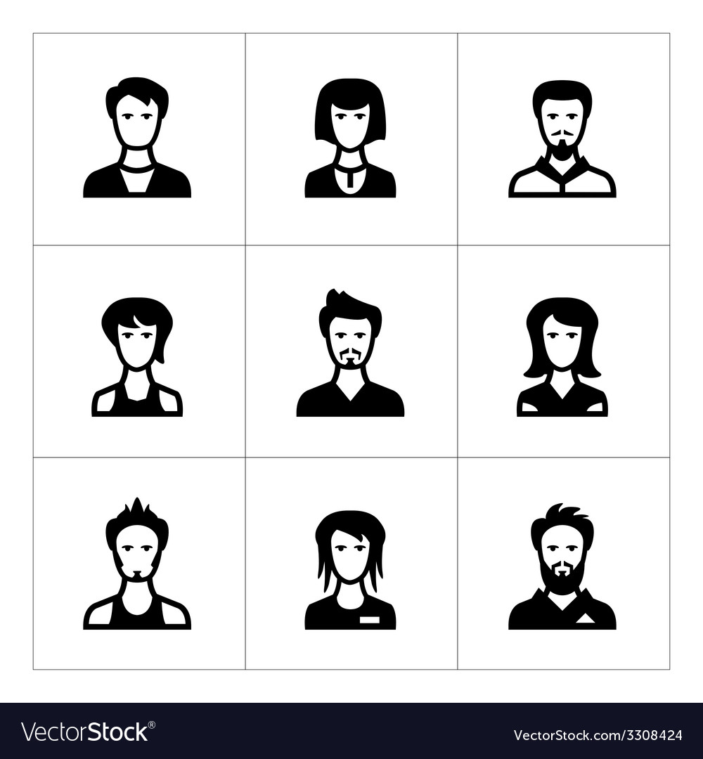 Set icons of people vector | Price: 1 Credit (USD $1)