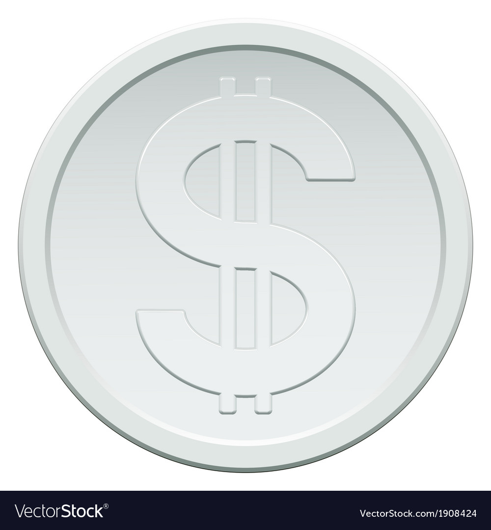 Silver coin vector | Price: 1 Credit (USD $1)