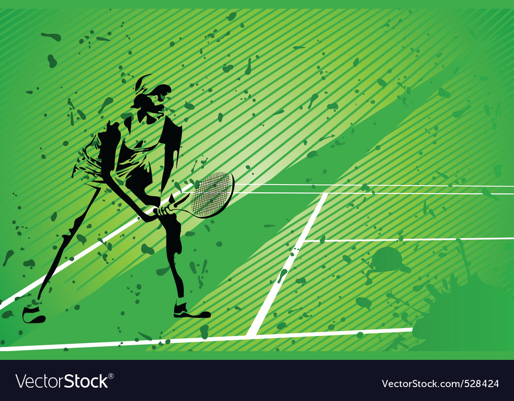 Tennis illustration vector | Price: 1 Credit (USD $1)