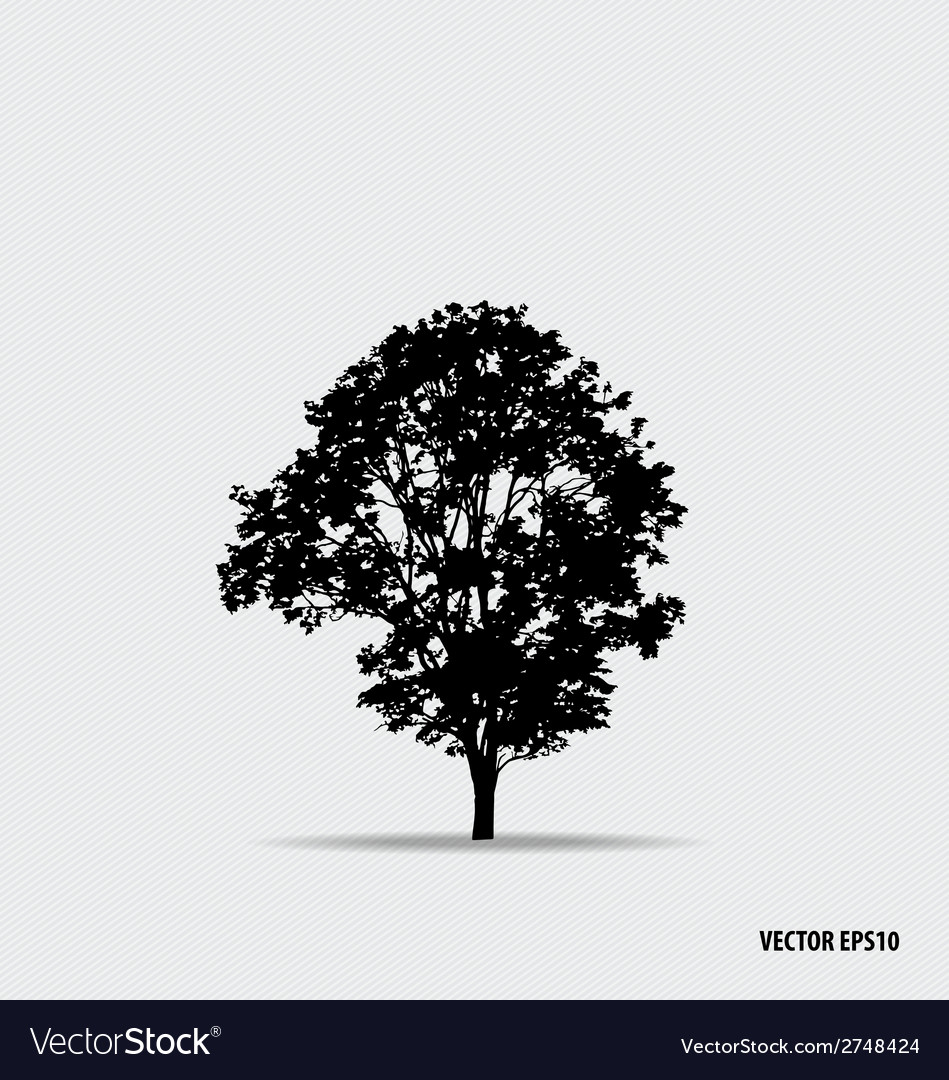 Tree silhouette vector | Price: 1 Credit (USD $1)