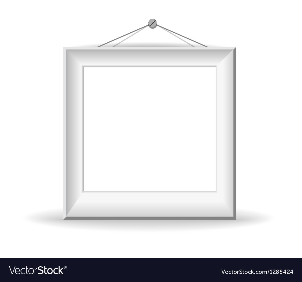 White picture frame vector | Price: 1 Credit (USD $1)