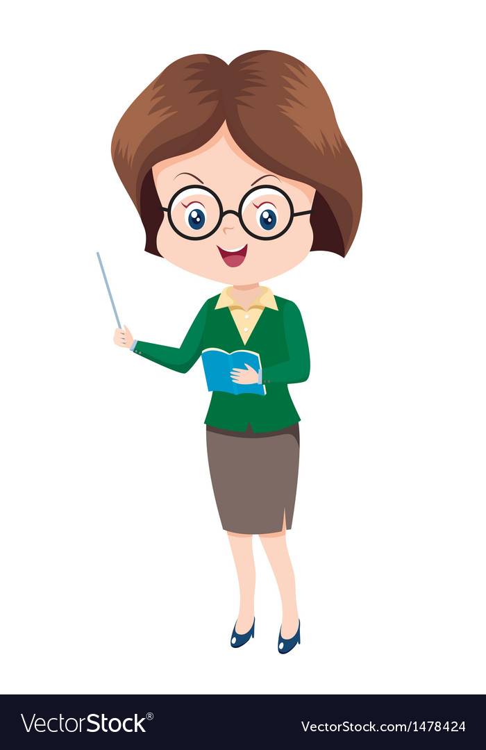 Woman teacher vector | Price: 1 Credit (USD $1)