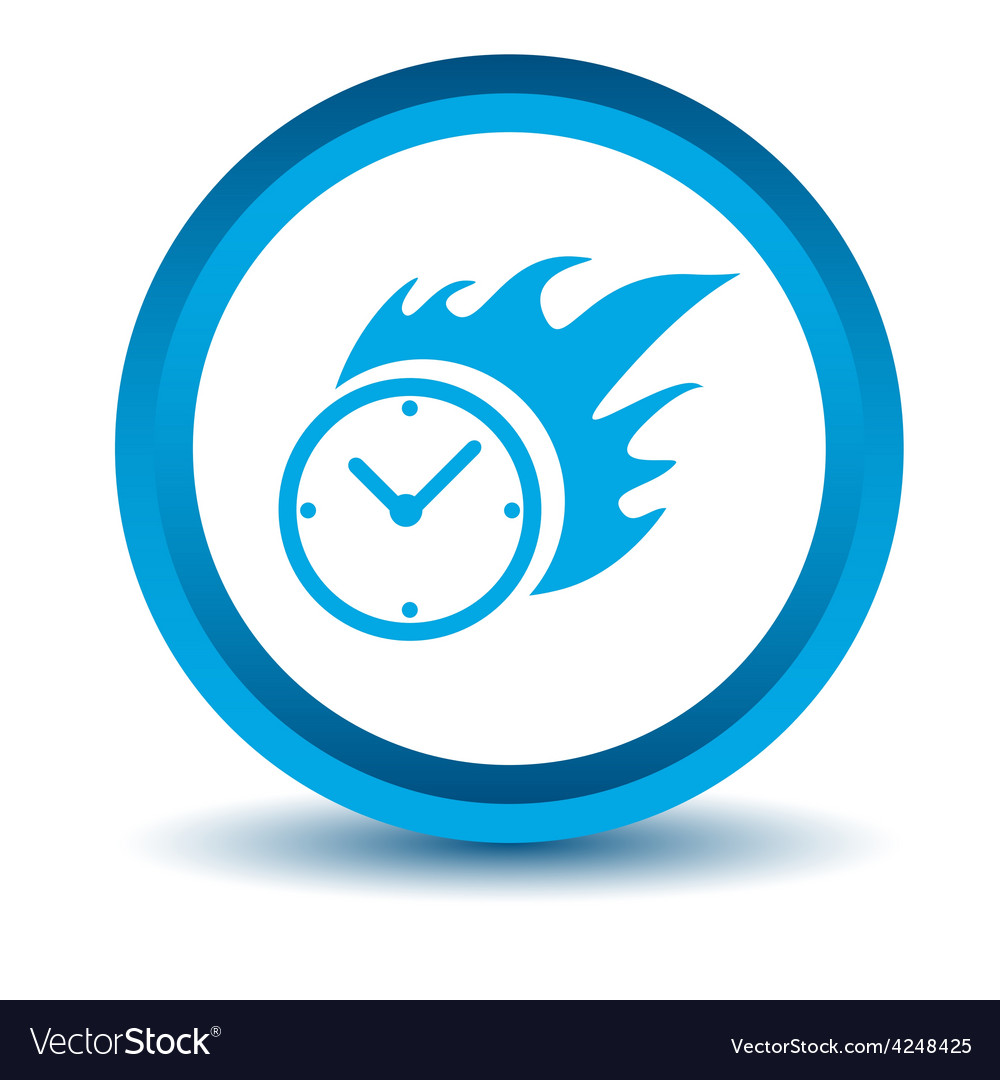 Blue hot clock icon vector | Price: 1 Credit (USD $1)