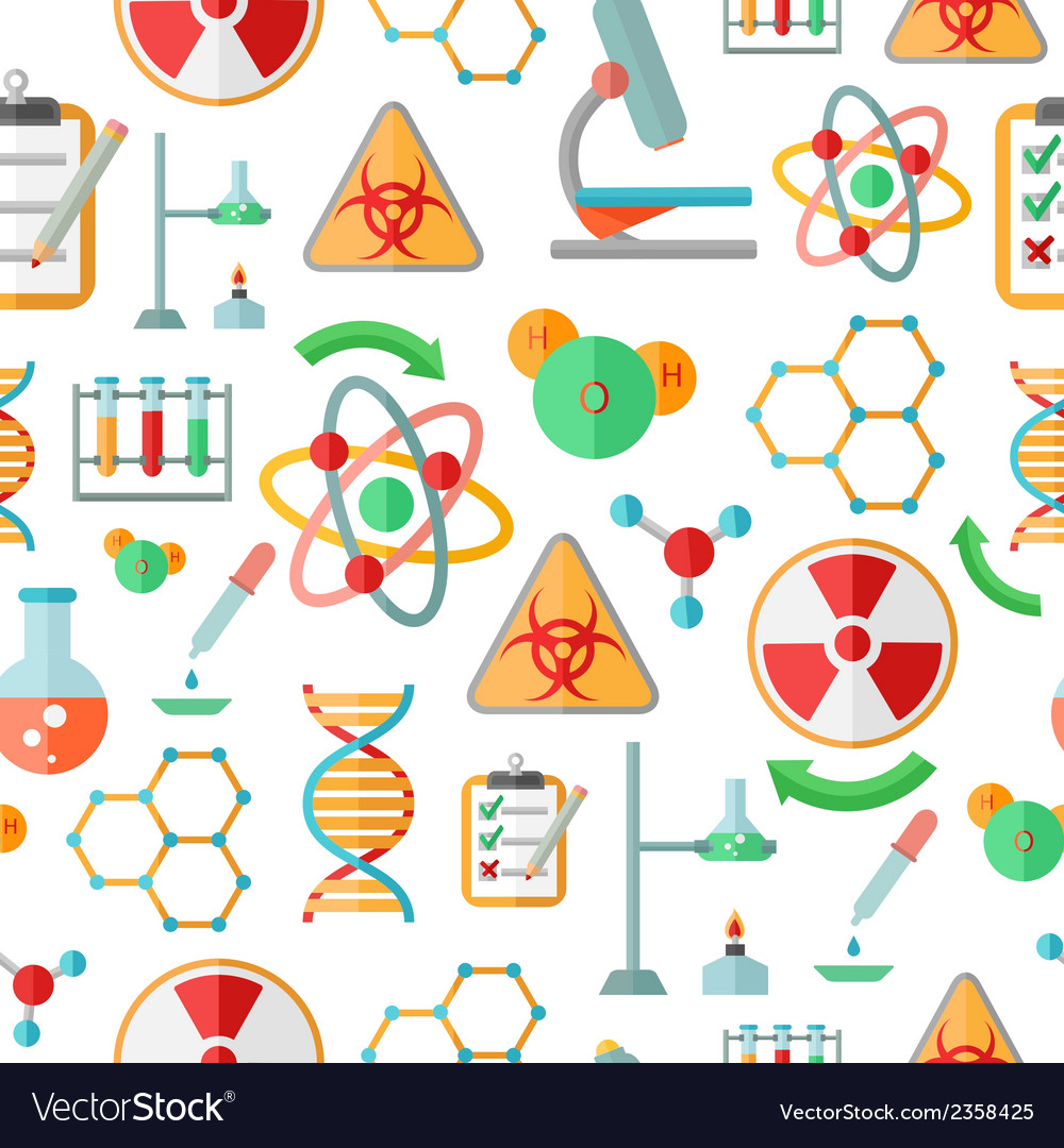 Chemistry research seamless pattern vector | Price: 1 Credit (USD $1)