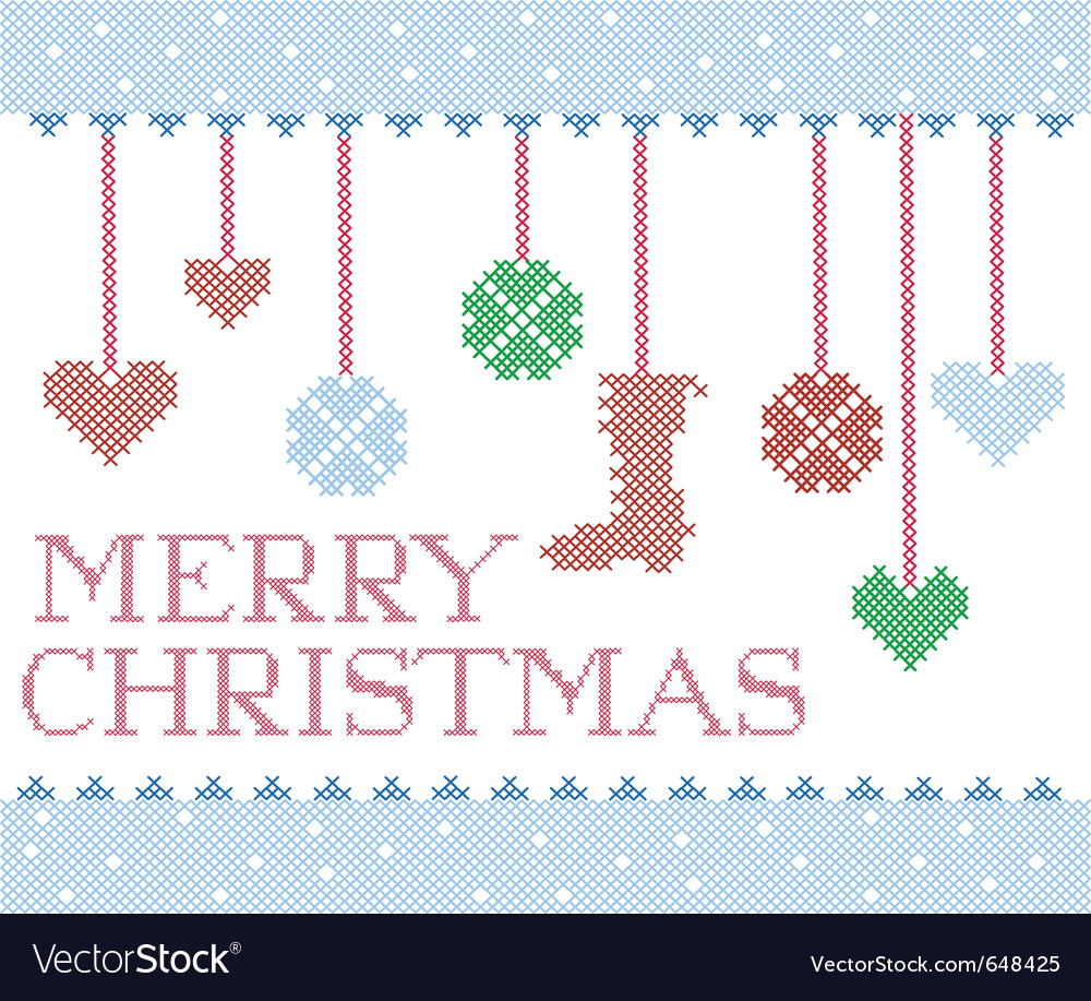 Christmas cross stitch vector | Price: 1 Credit (USD $1)