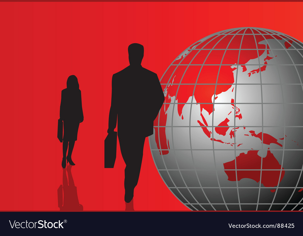 Globe people vector | Price: 1 Credit (USD $1)