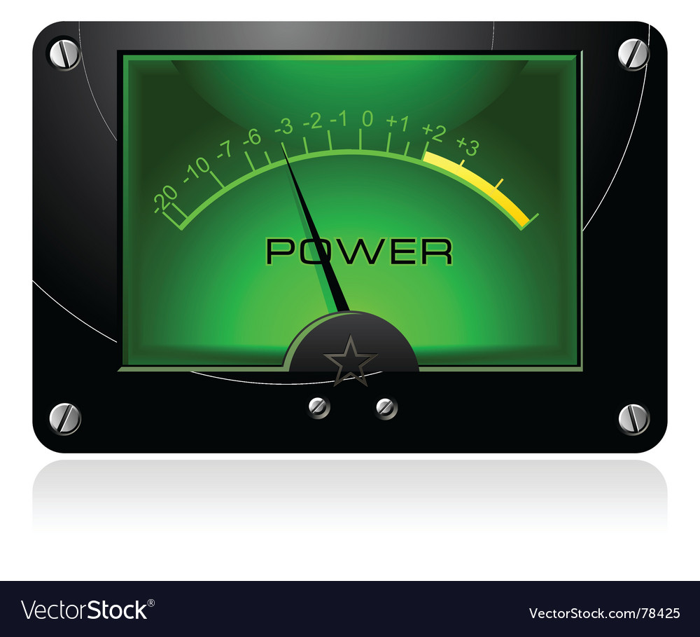 Green signal meter vector | Price: 1 Credit (USD $1)