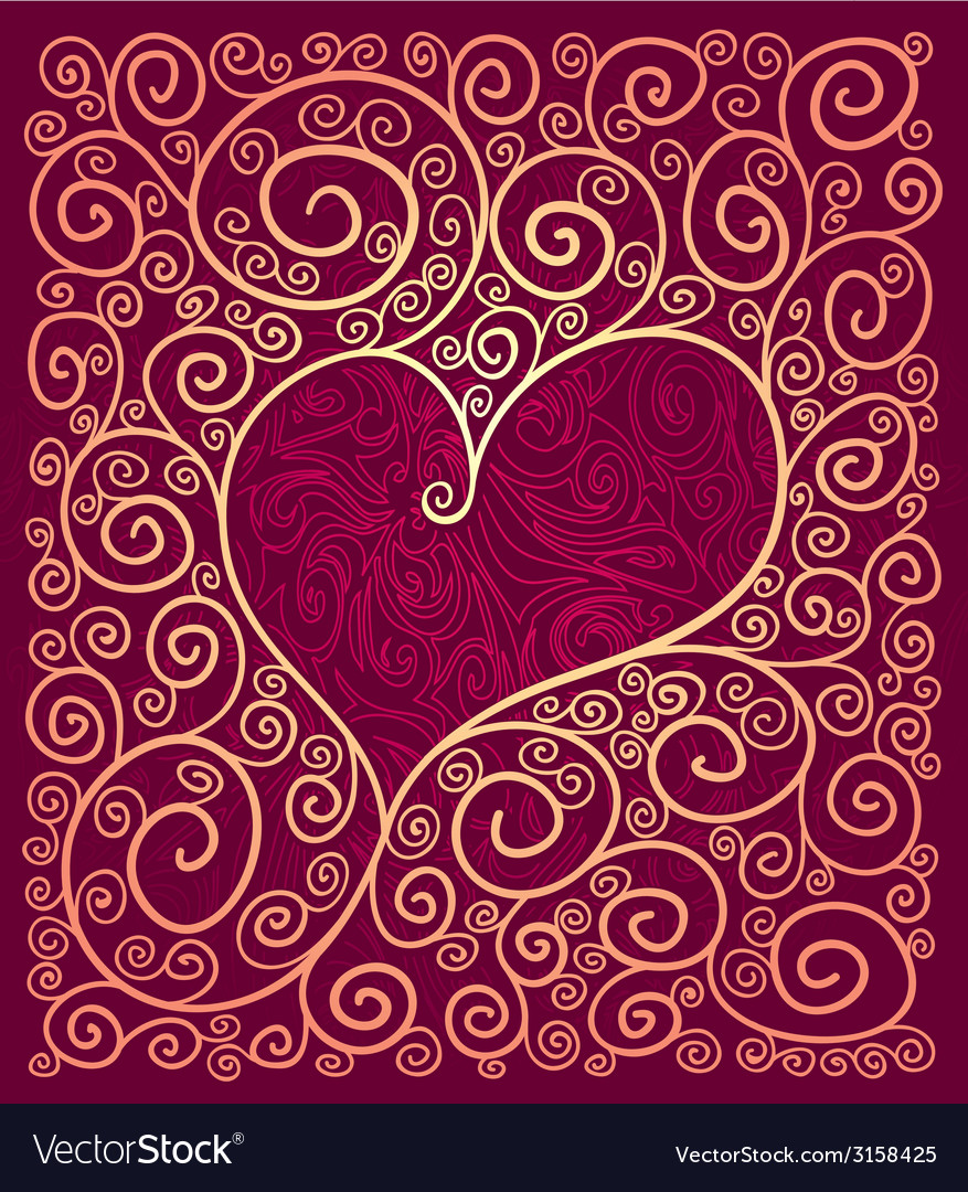 Heart frame vector   Price: 1 Credit (USD $1)