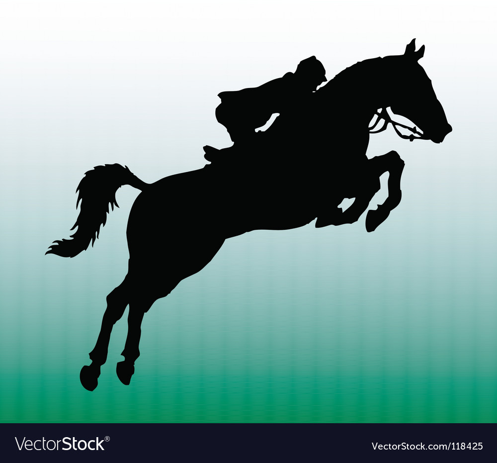 Silhouette of horseman vector | Price: 1 Credit (USD $1)