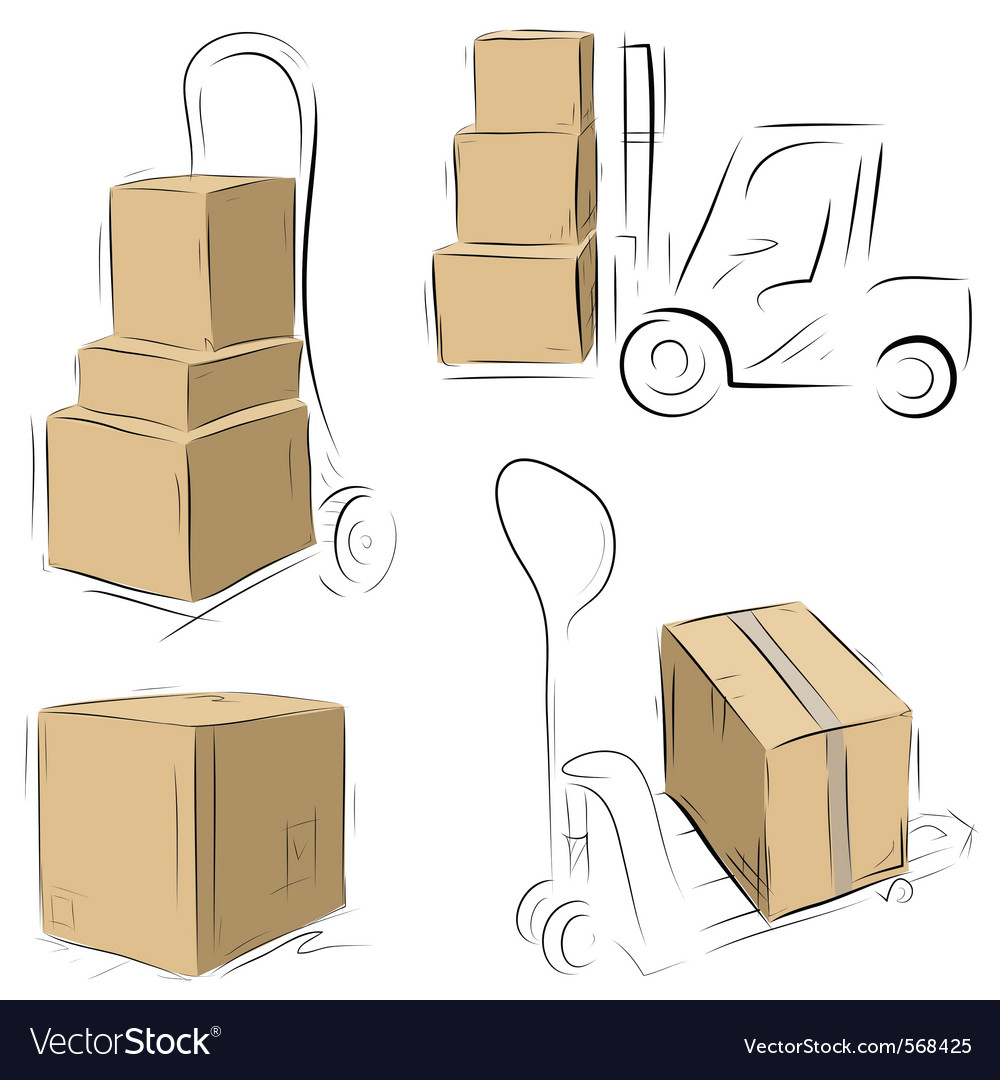 Storehouse carts vector | Price: 1 Credit (USD $1)