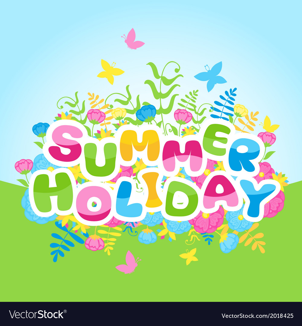 Summer holidays inscription of colorful letters vector | Price: 1 Credit (USD $1)