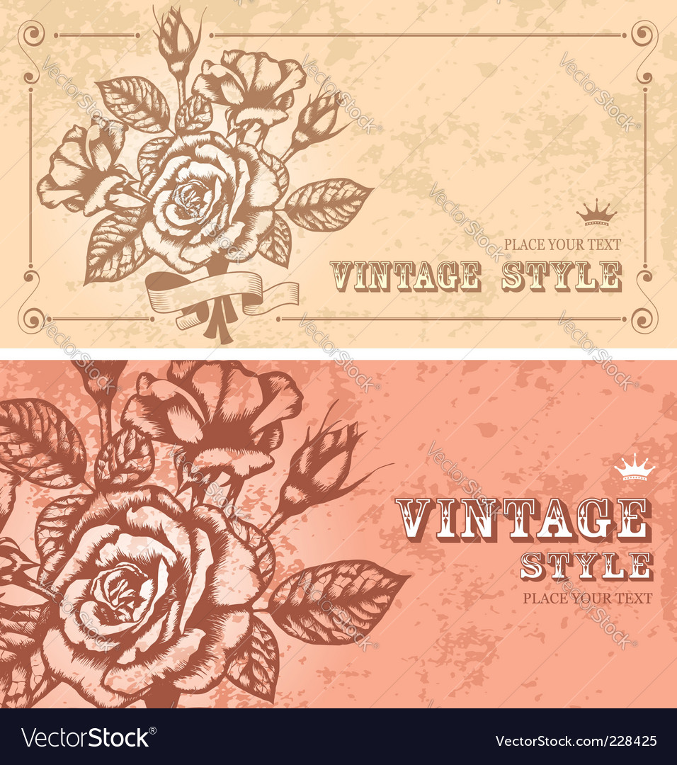 Two floral backgrounds vector | Price: 1 Credit (USD $1)
