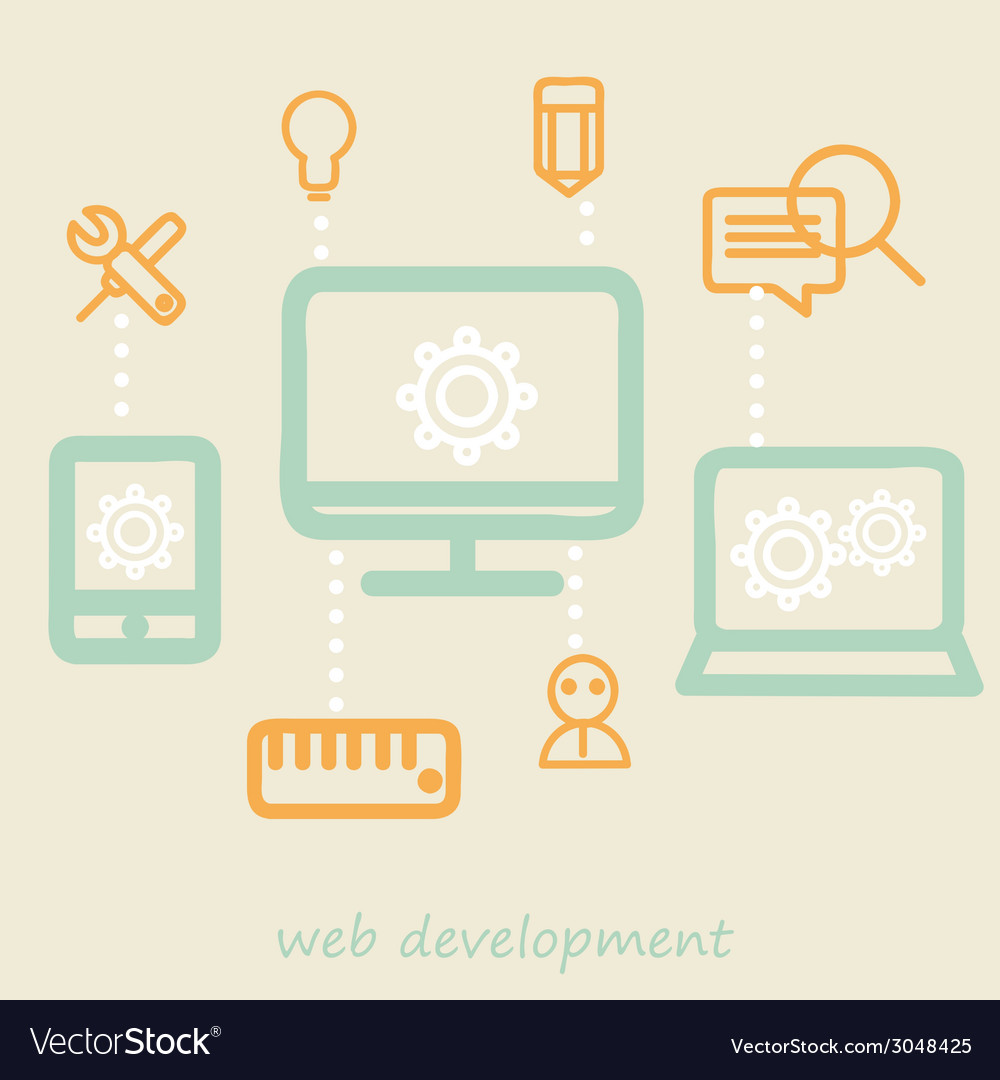 Web development vector | Price: 1 Credit (USD $1)