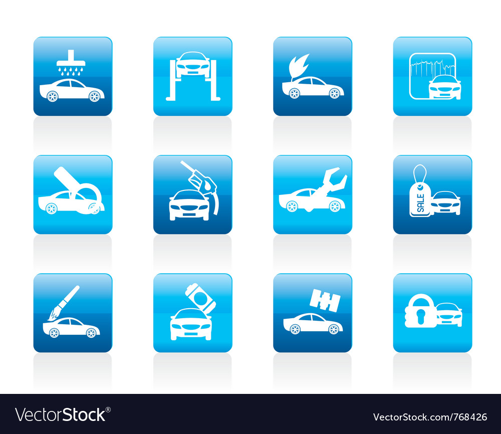 Car and automobile service icon vector | Price: 1 Credit (USD $1)