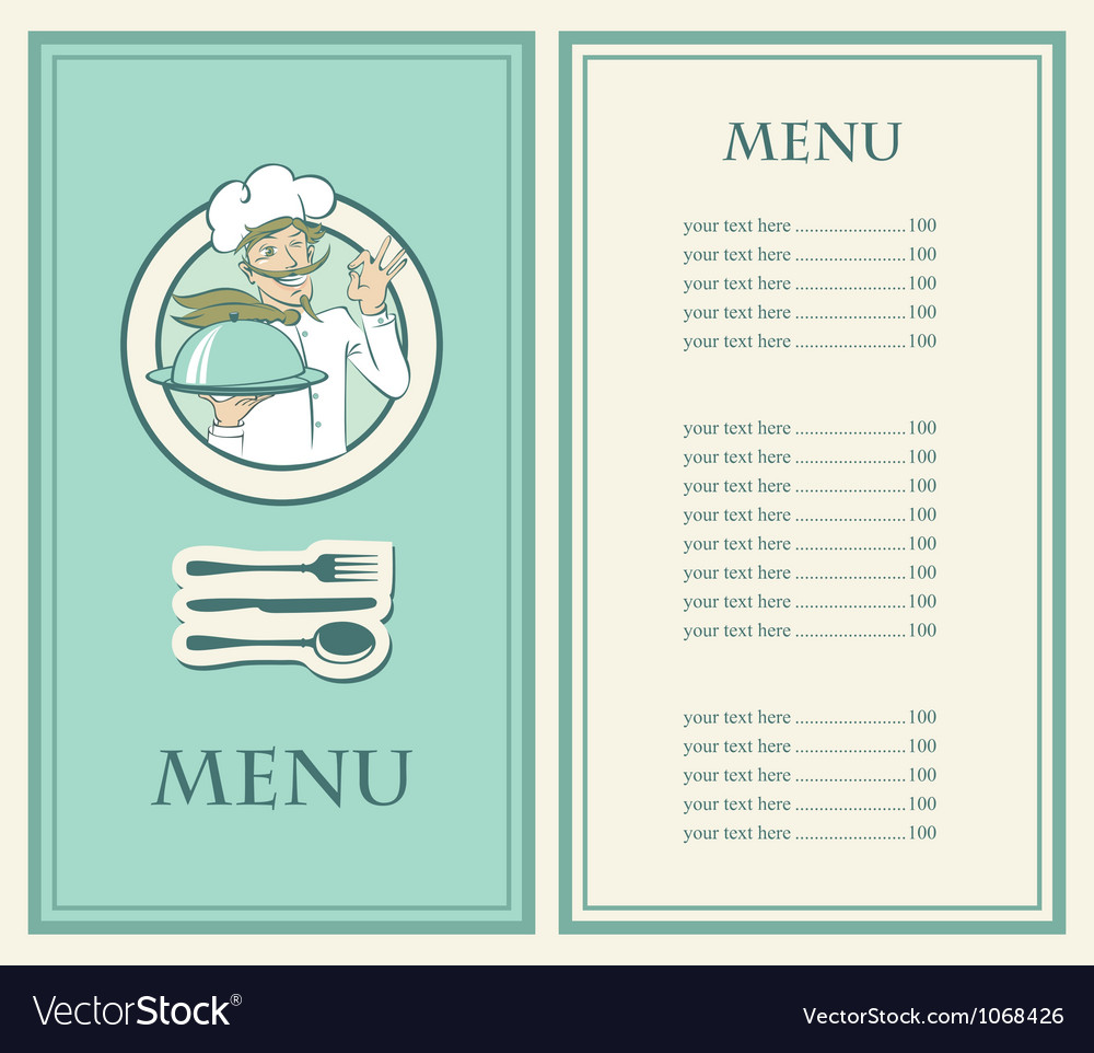 Chef menu vector   Price: 1 Credit (USD $1)