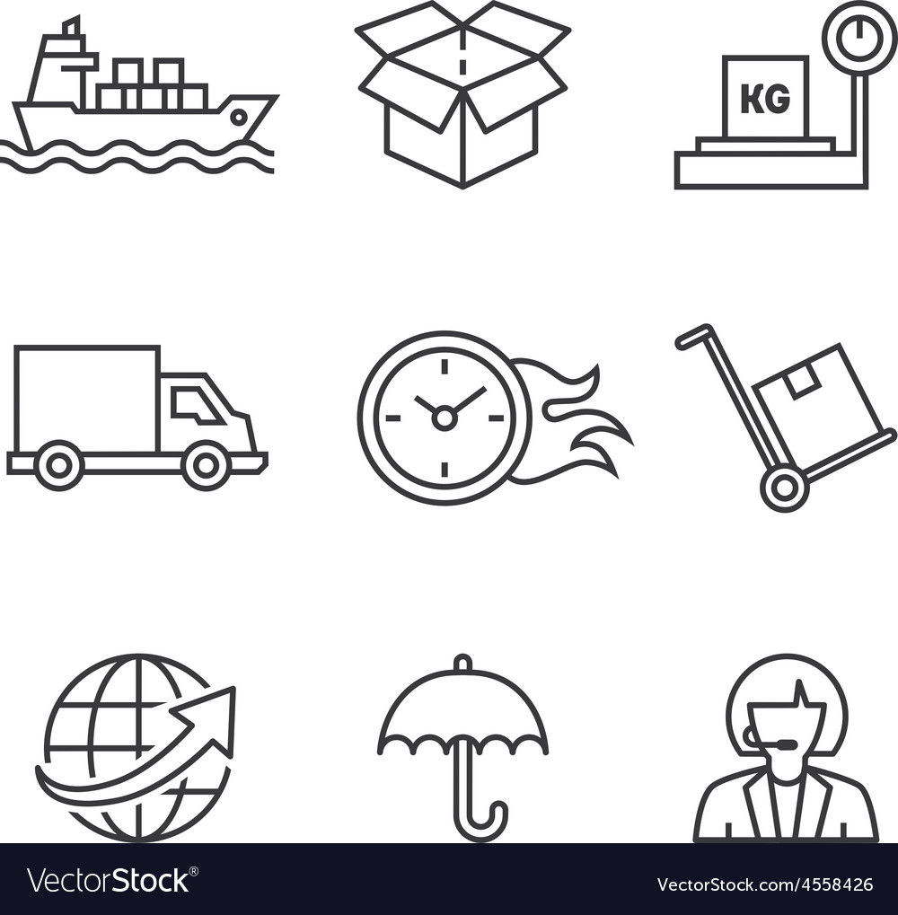 Concepts of delivery shipping vector | Price: 1 Credit (USD $1)