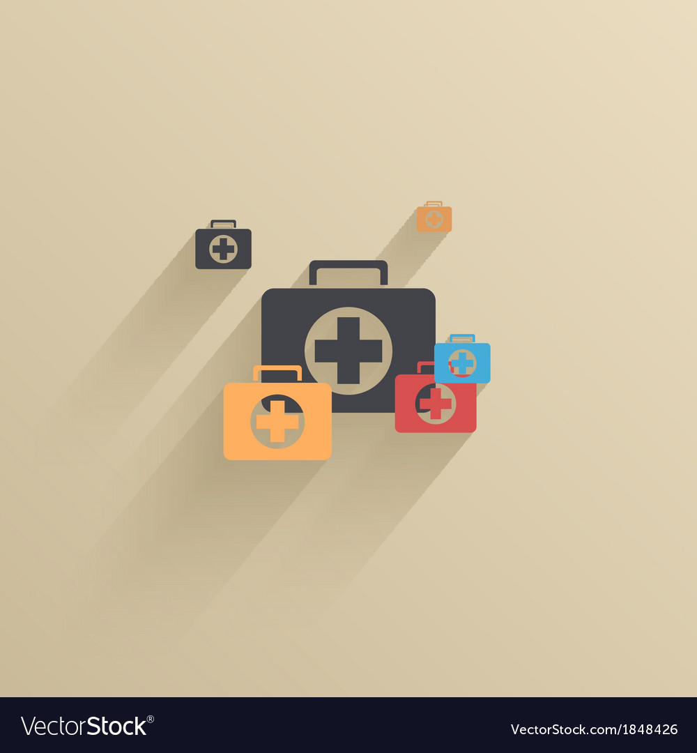 Creative flat ui icon background eps 10 vector | Price: 1 Credit (USD $1)
