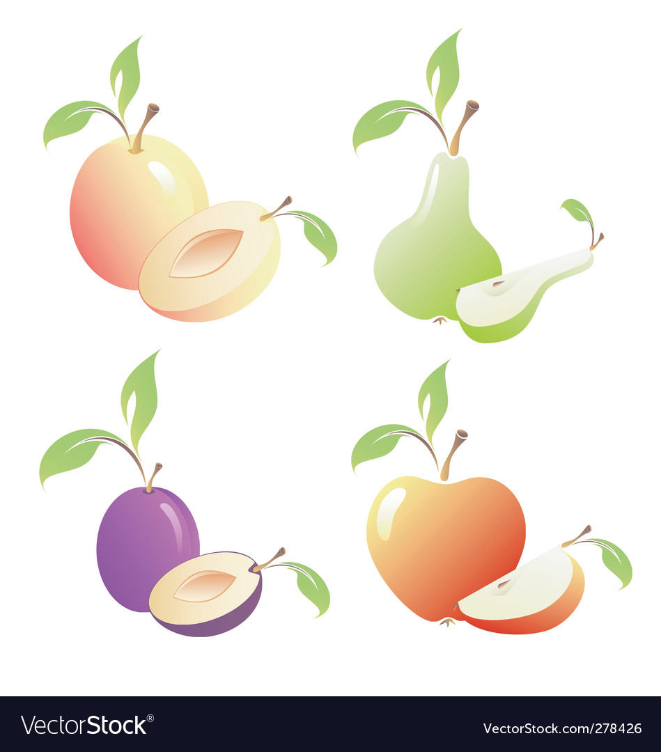 Fruits images vector | Price: 1 Credit (USD $1)