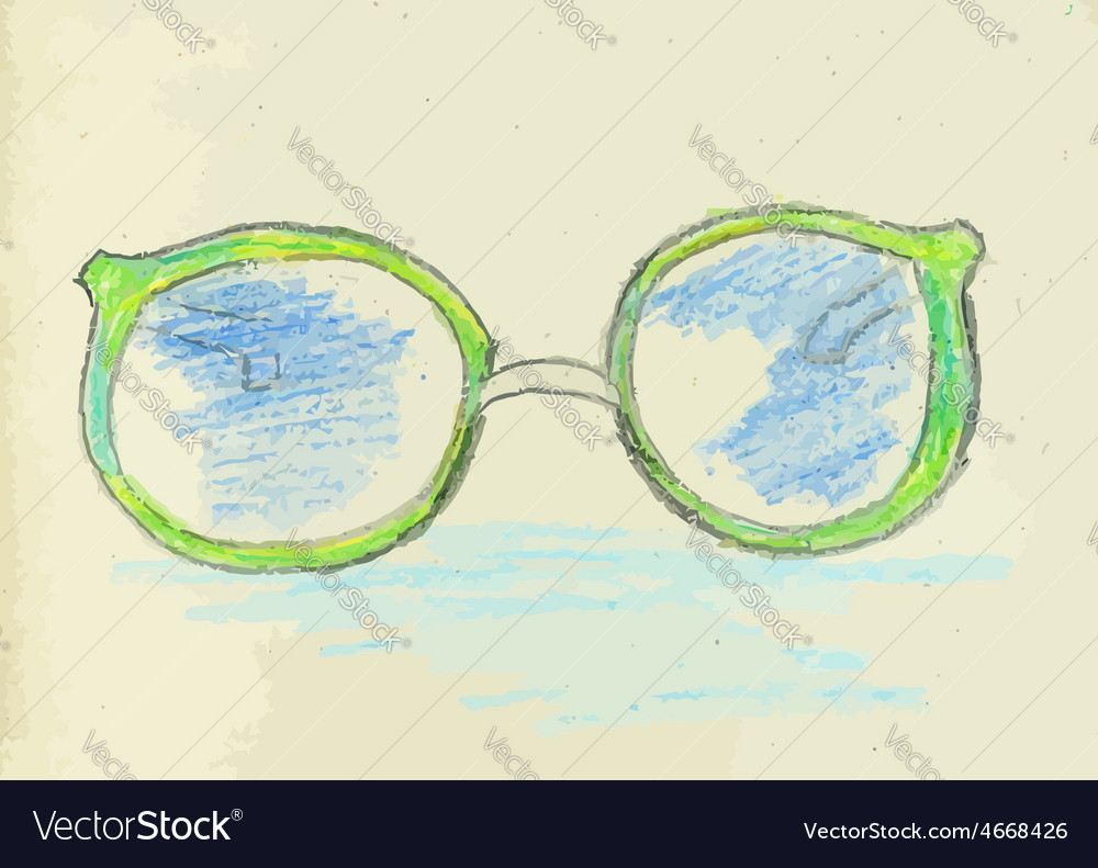 Hand drawn glasses2 vector | Price: 1 Credit (USD $1)