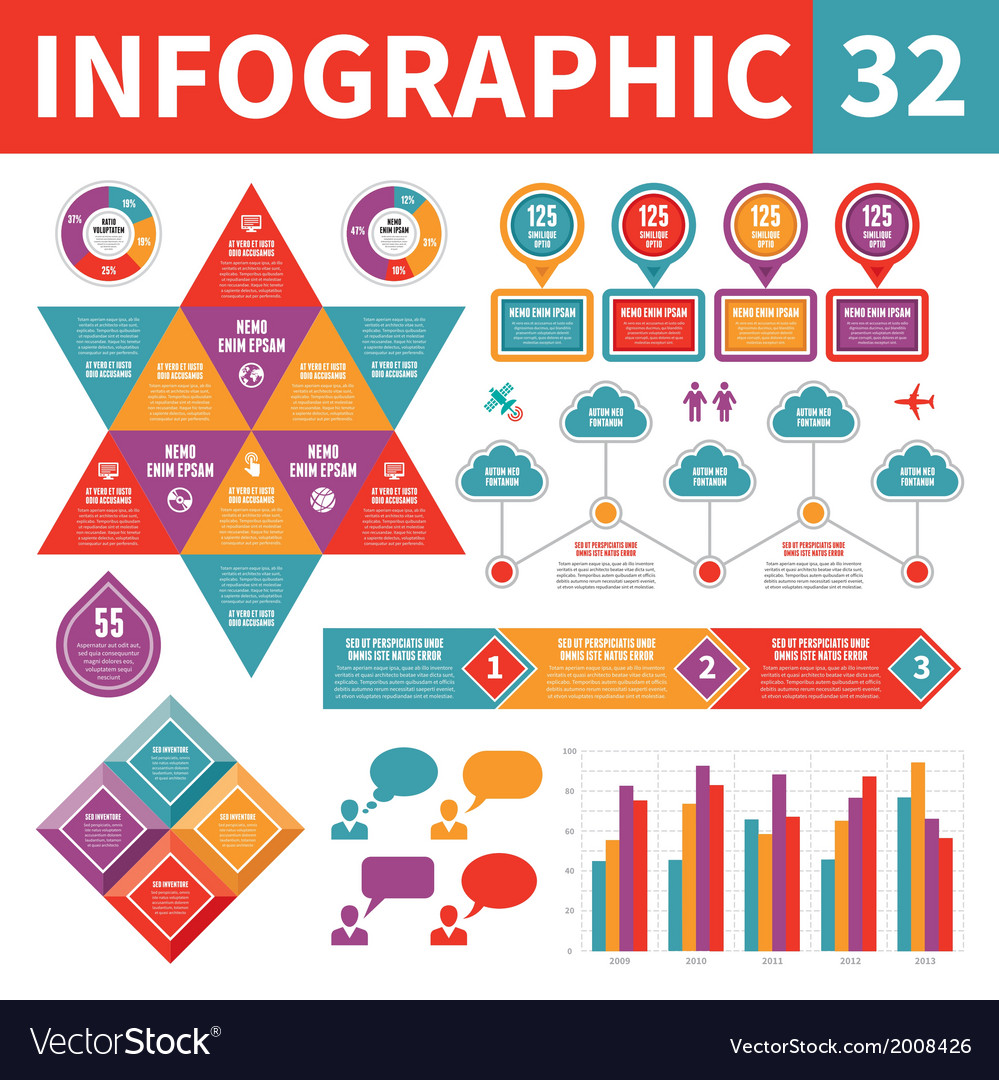 Infographic elements 32 vector | Price: 1 Credit (USD $1)