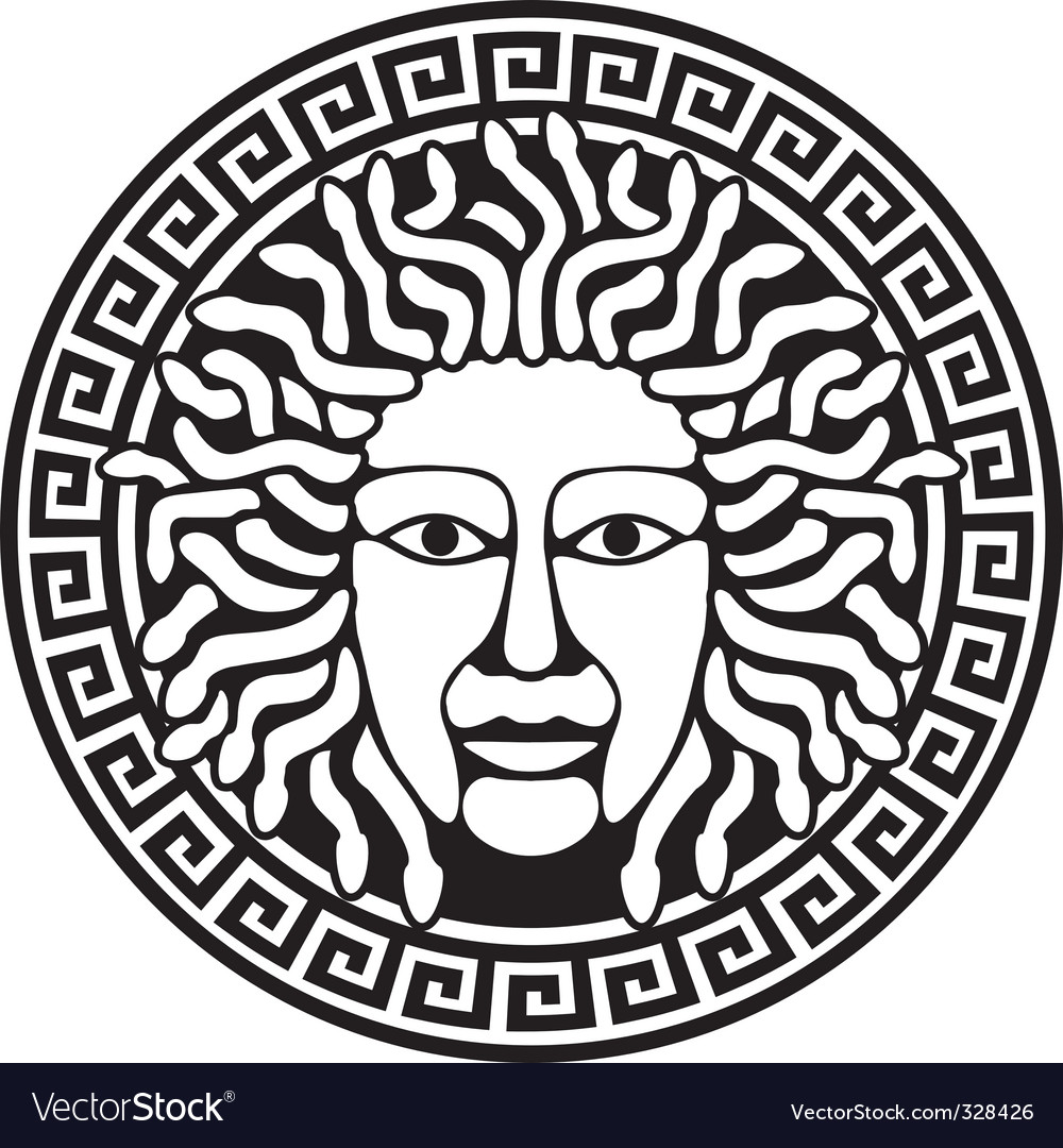 Medusa gorgon head vector | Price: 1 Credit (USD $1)