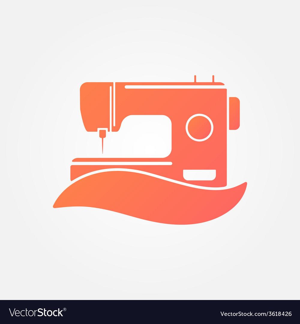 Sewing machine logo - symbol vector | Price: 1 Credit (USD $1)