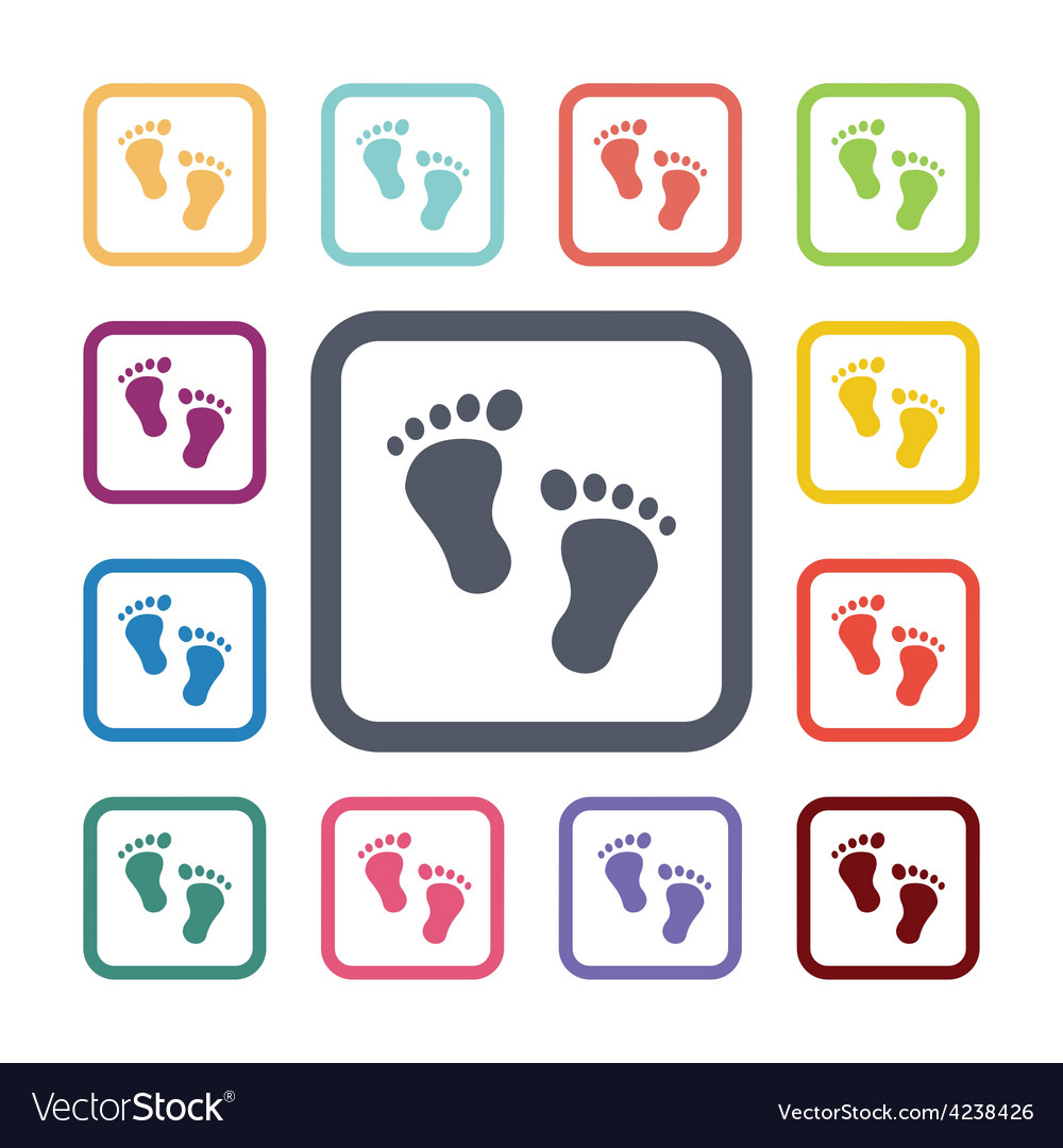 Steps flat icons set vector | Price: 1 Credit (USD $1)