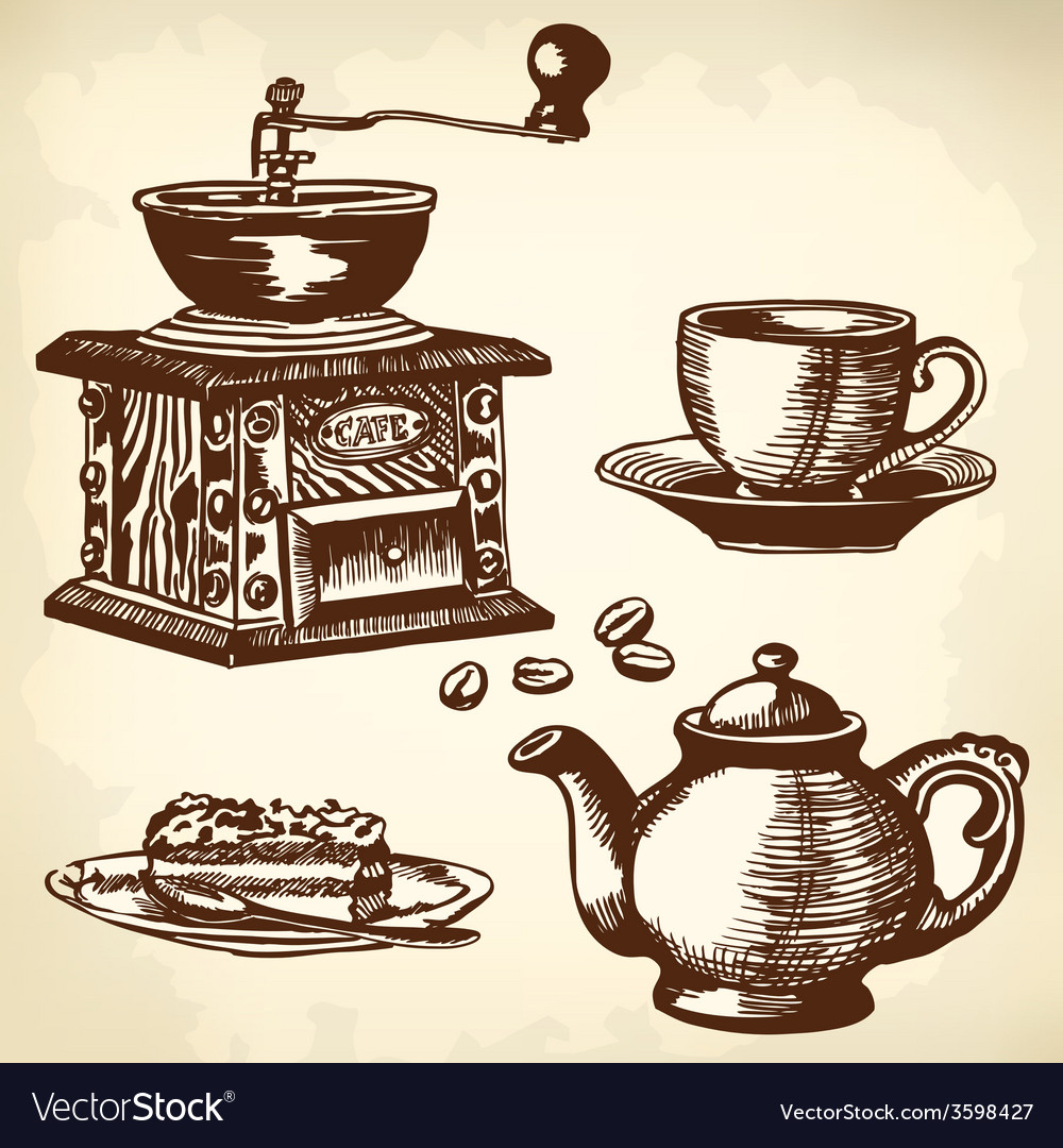 Caffe set vector | Price: 1 Credit (USD $1)