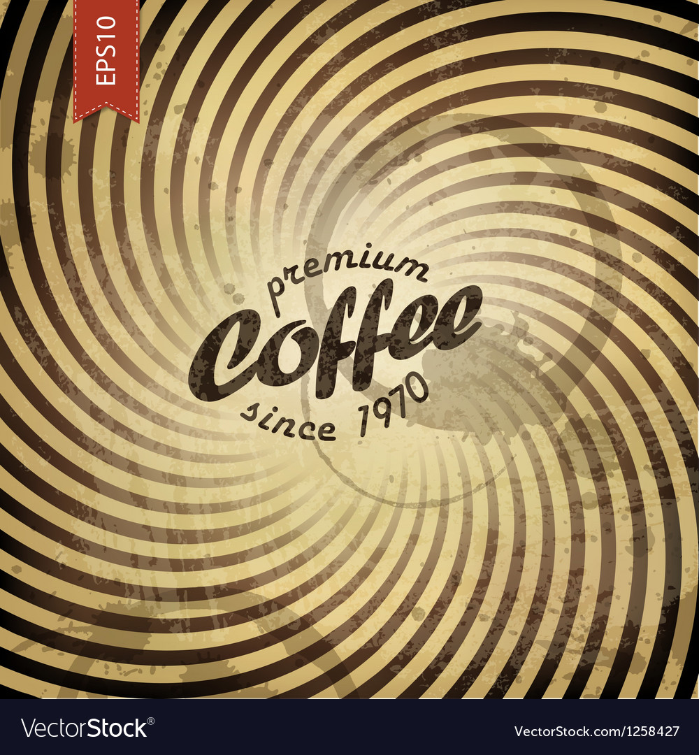 Coffee grunge retro background vector | Price: 1 Credit (USD $1)