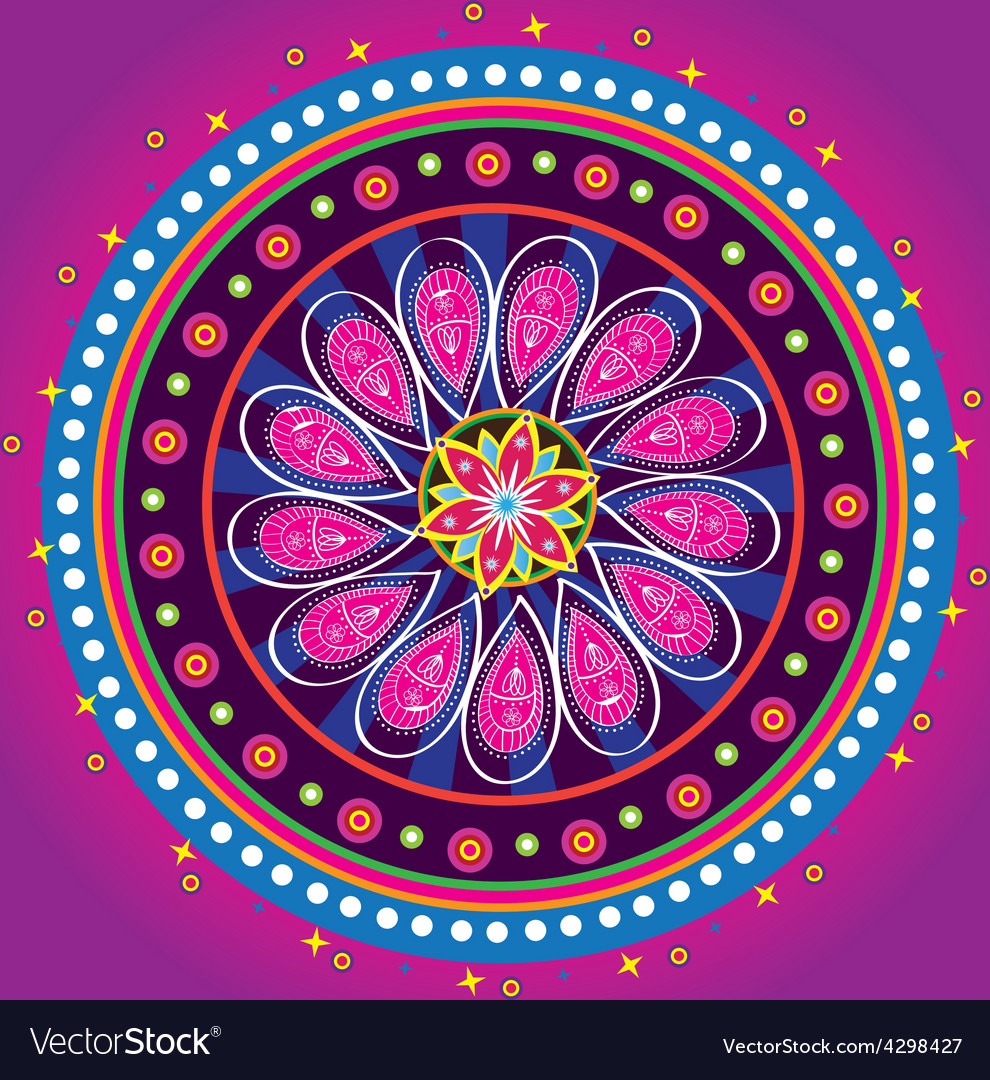 Flower pattern mandala vector | Price: 1 Credit (USD $1)