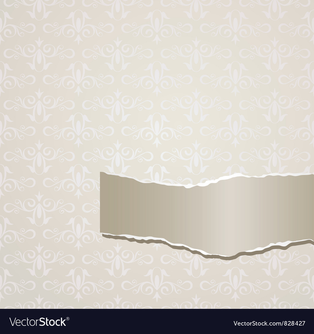 Gray background with torn paper vector | Price: 1 Credit (USD $1)