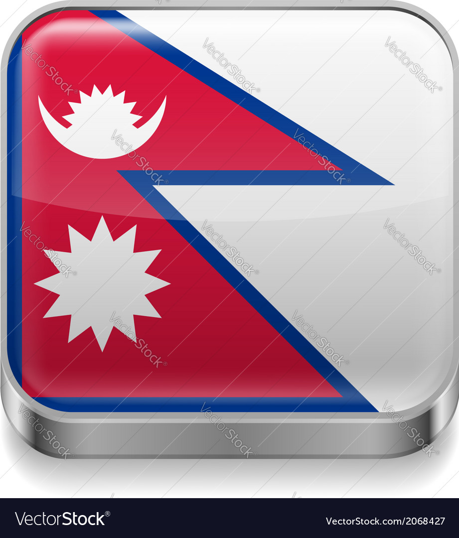 Metal icon of nepal vector | Price: 1 Credit (USD $1)