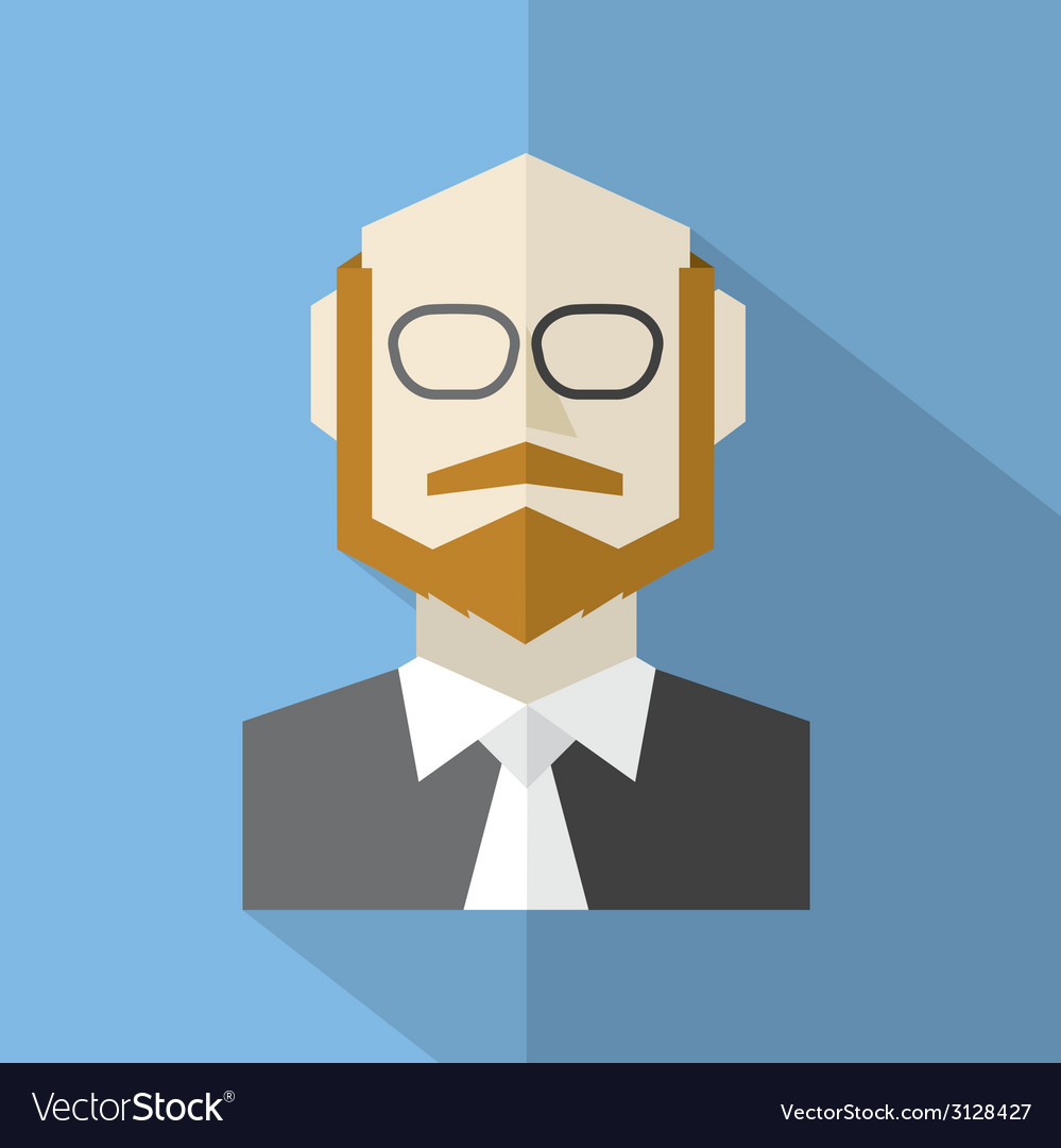 Modern flat design businessman icon vector | Price: 1 Credit (USD $1)