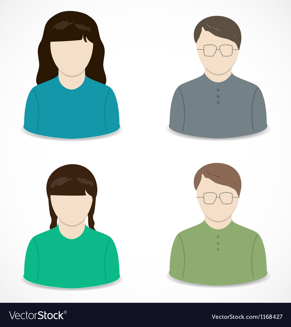 People icon vector | Price: 1 Credit (USD $1)