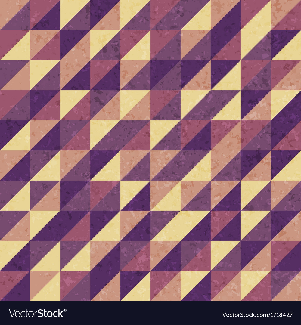 Vintage geometric retro pattern vector | Price: 1 Credit (USD $1)