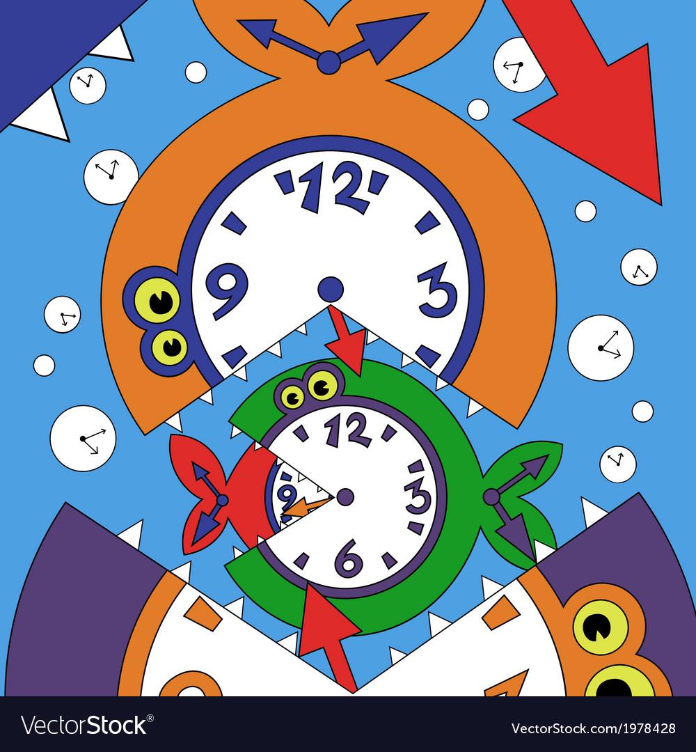 Abstract clock fish vector   Price: 1 Credit (USD $1)