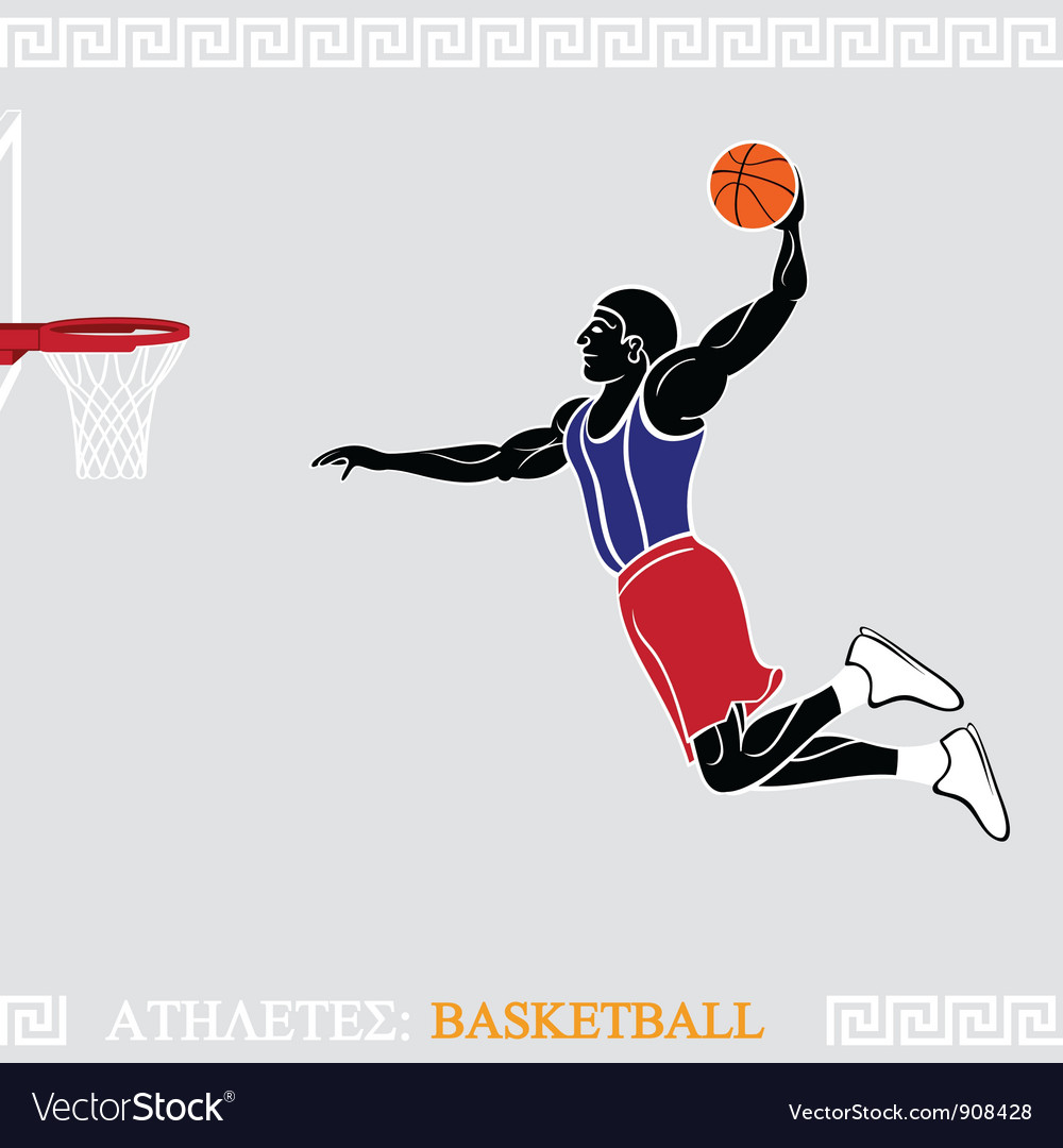 Athlete basketball player vector | Price: 3 Credit (USD $3)