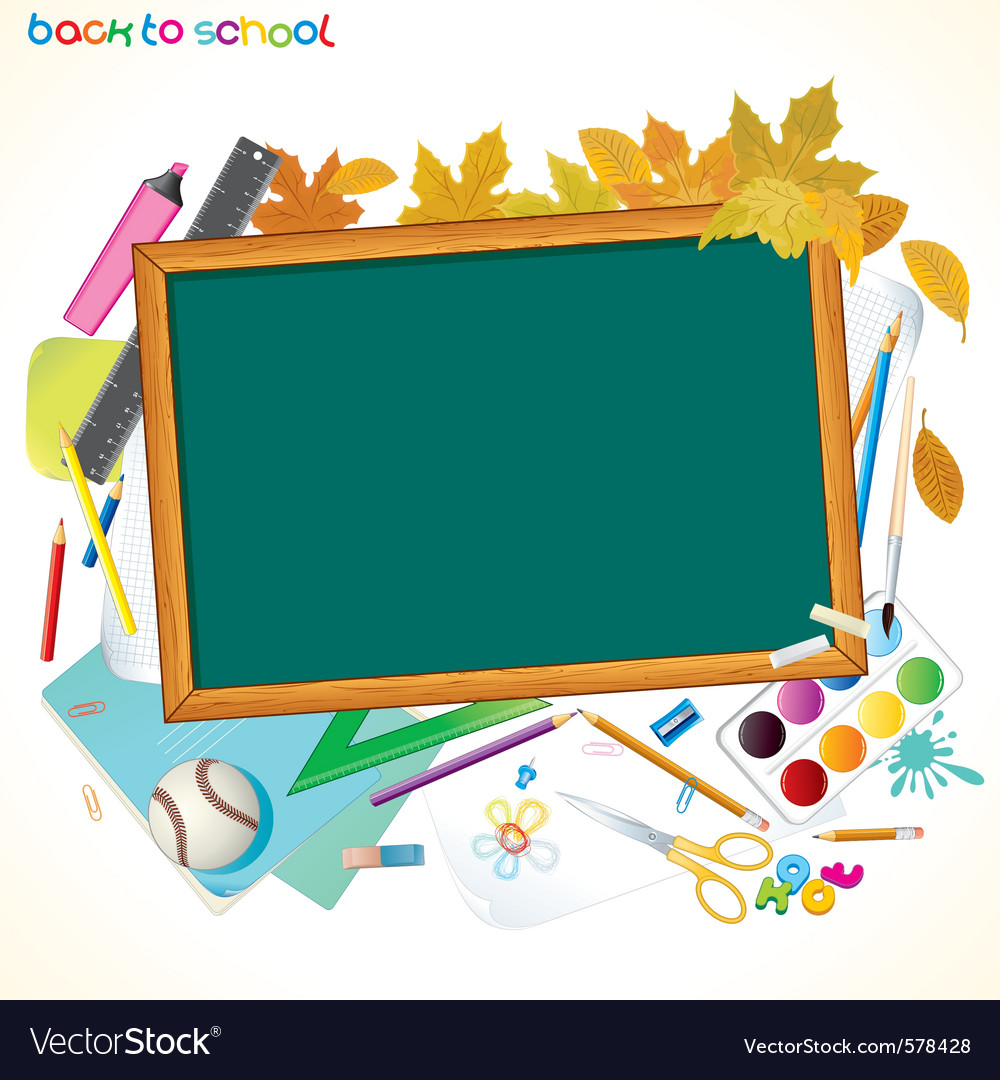 Back to school background with copy space vector | Price: 1 Credit (USD $1)