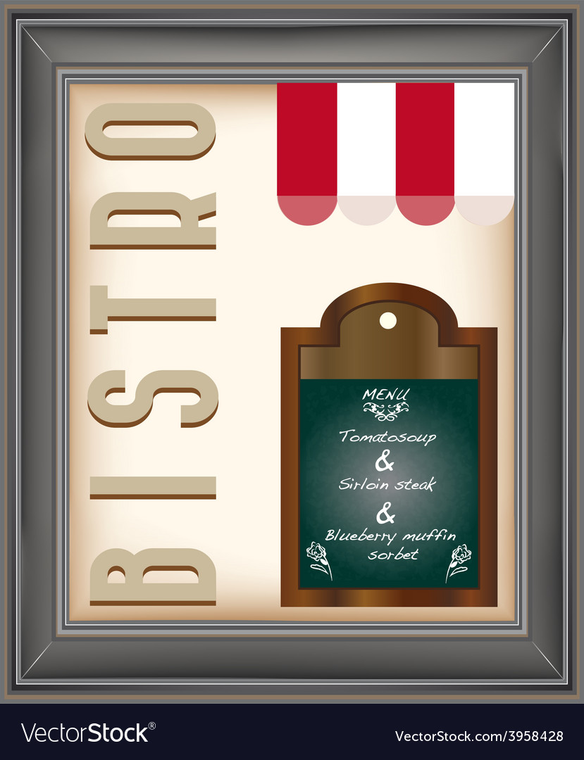 Bistro poster vector | Price: 1 Credit (USD $1)
