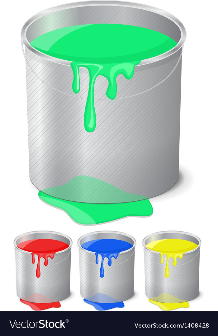 Bucket with paint vector | Price: 1 Credit (USD $1)