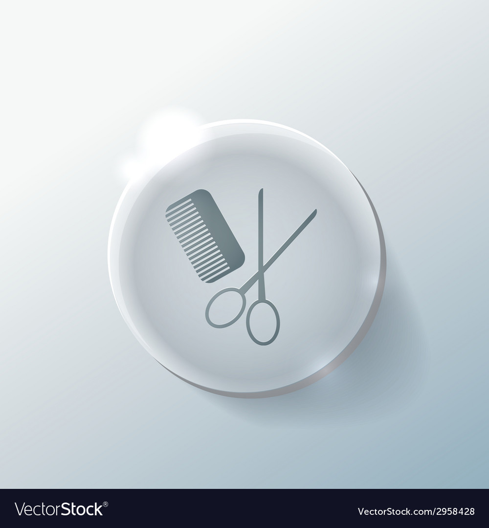 Comb scissors sign barbershop vector | Price: 1 Credit (USD $1)