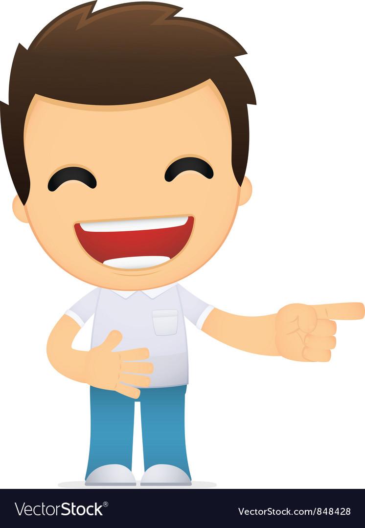 Funny cartoon casual man vector   Price: 1 Credit (USD $1)