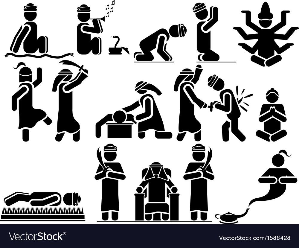Icons man arabs vector | Price: 1 Credit (USD $1)