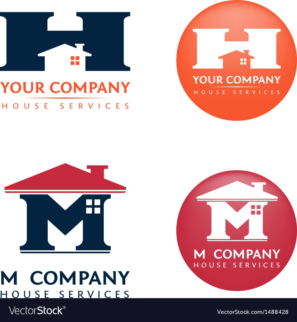 M h house logo vector | Price: 1 Credit (USD $1)