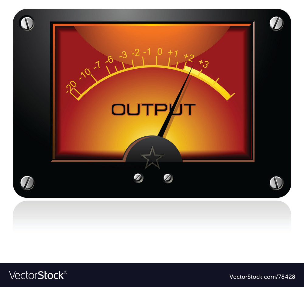 Orange signal meter vector | Price: 1 Credit (USD $1)
