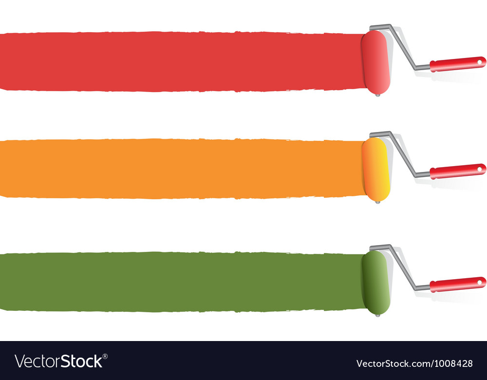 Paint rollers vector | Price: 1 Credit (USD $1)