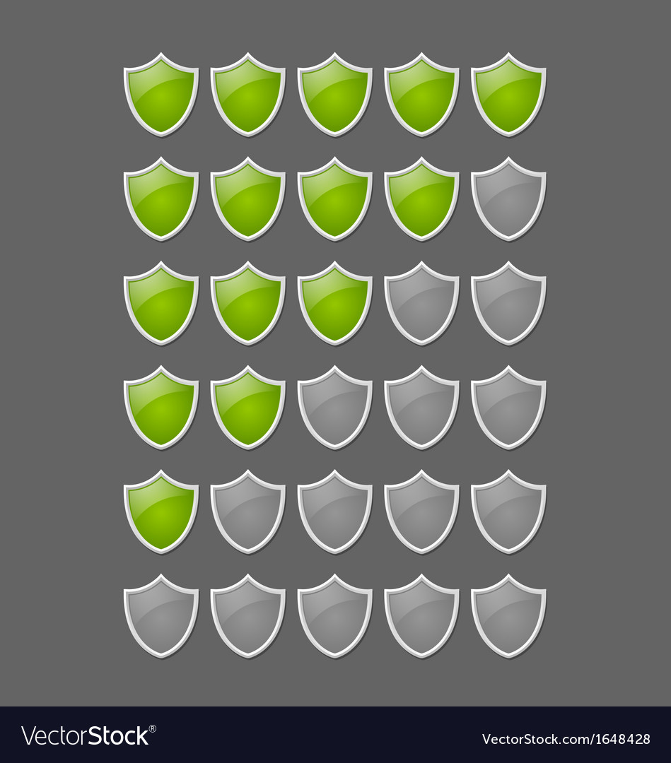 Rating glossy shields vector | Price: 1 Credit (USD $1)