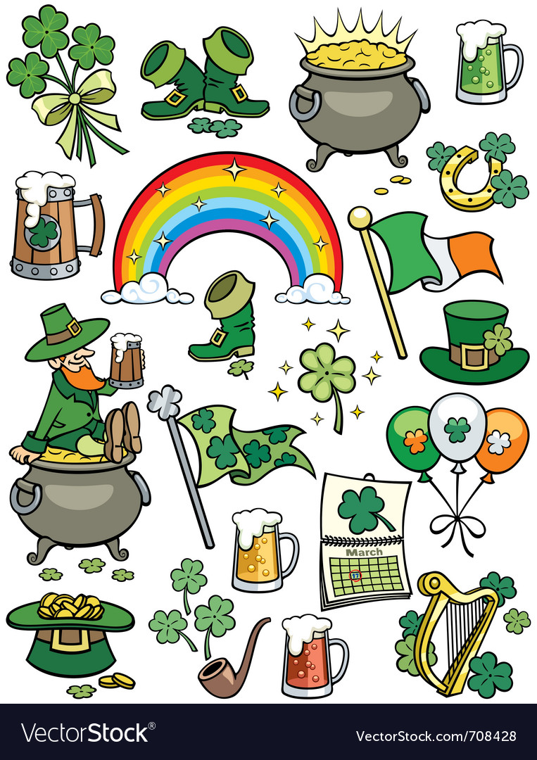 Saint patricks day elements vector | Price: 3 Credit (USD $3)