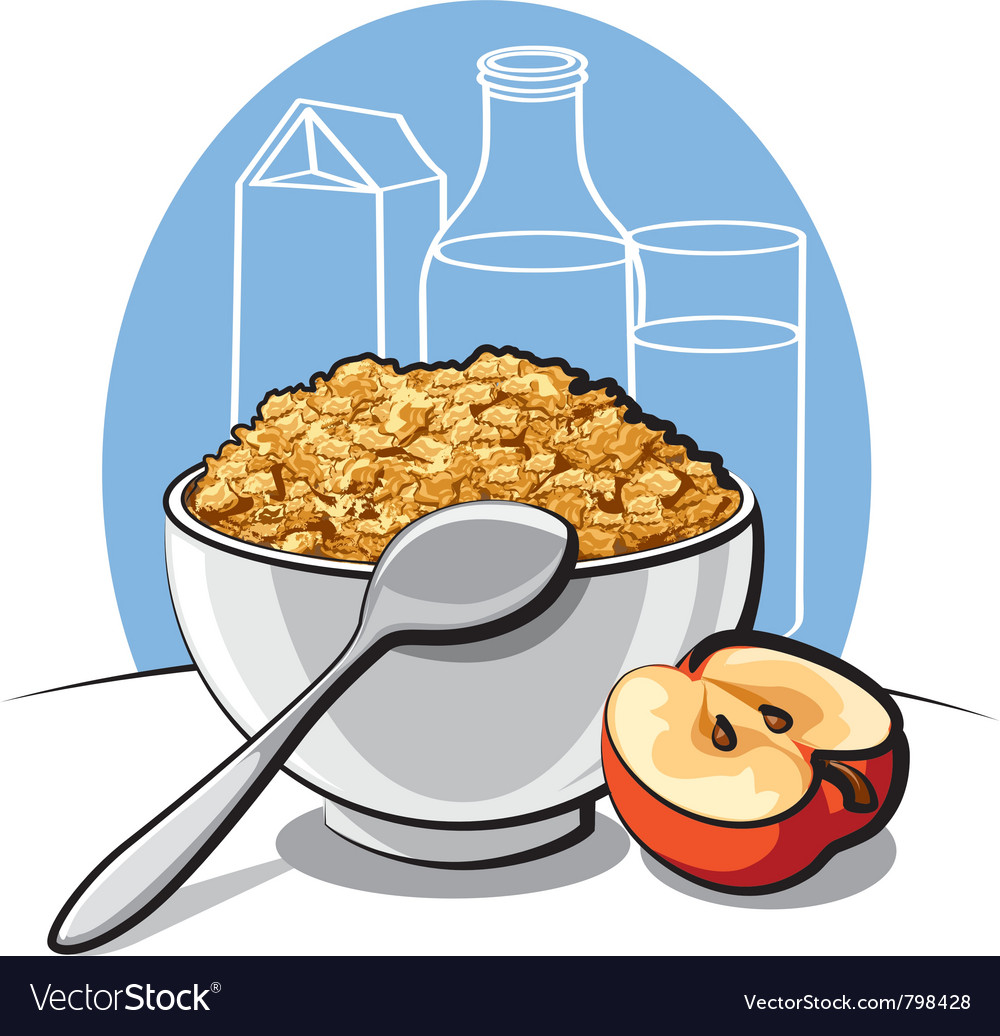 Tasty cornflakes vector | Price: 3 Credit (USD $3)