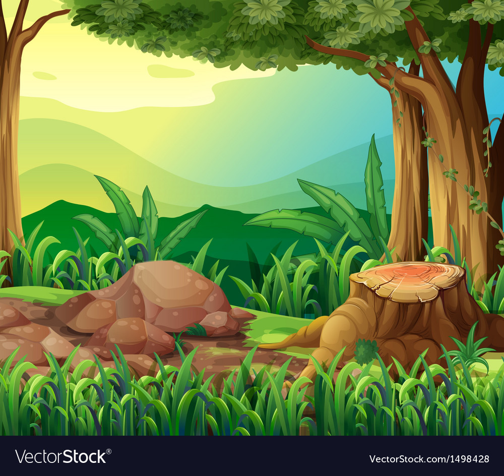 The tree trunk vector | Price: 1 Credit (USD $1)
